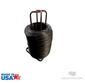 Premium stand baler wire -12 gauge black annealed